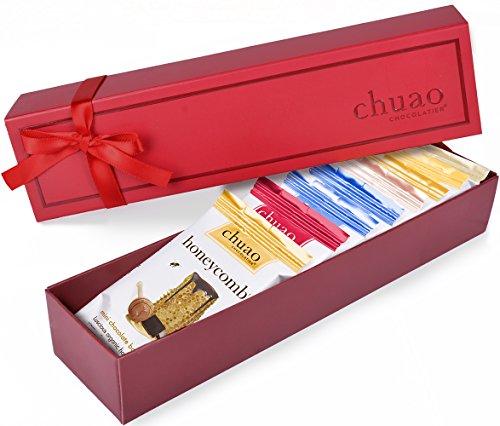 Box Truffle Gourmet (Chocolate Gift Set - Chuao Chocolatier Dark Mini Chocolate Bars 8 Piece Gift Set (.39 oz mini bars) - Best-Selling Variety Pack - Gourmet Artisan Dark Chocolate Assortment - Free of Artificial Flavors)