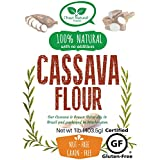 Cassava Flour (Manioc or Yuca Flour) whole flour by Chozi., Certified Gluten-Free- nonGMO, All Natural, no additives (1lb)