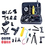 YaeKoo 26in1 Head Chest Mount Floating Monopod Accessories Kit for Gopro 2 3 4 Camera ,26-in-1 Accessories Kit for Gopro Hero 4, Hero Hd 3+/3/2/1 Camera JL-050