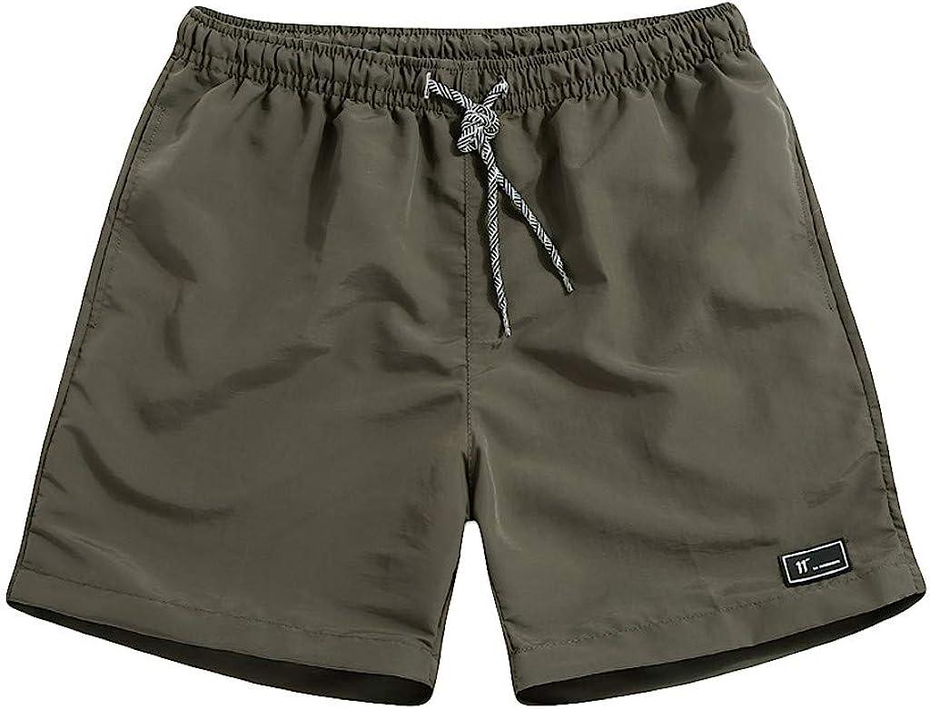 Uomo Pantaloncini Mare Running Uomo Drawstring Shorts Uomo Pantaloncini da Dry Fit Estate Taglie Forti Sottile Fast-Asciugatura Spiaggia Pantaloni Casual Sport Pantaloncini