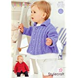 Stylecraft 9175 Knitting Pattern Baby Jackets in Lullaby DK by Stylecraft