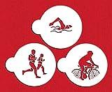 Triathlon Cookie Stencil Set by Designer Stencils