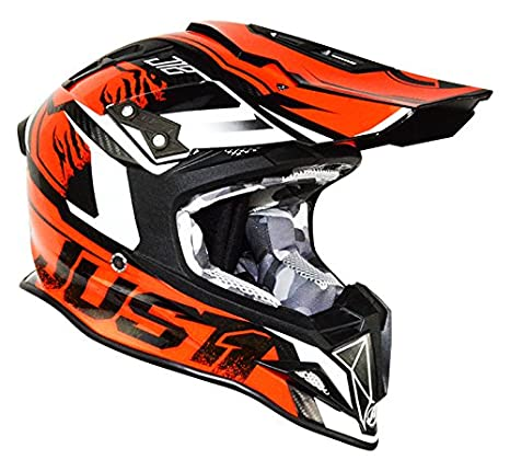 Amazon.com: Just1 Dominator Adult J12 Off-Road Motorcycle Helmet - Blue/Red / Large: Automotive