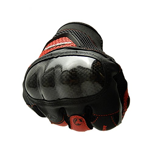 KEMIMOTO Motorbike Protective Racing Gloves Motorcycle Powersports Summer Outdoor Sports Gloves with Touch Screen Knuckle Protection (XL,Red) by KEMIMOTO (Image #4)
