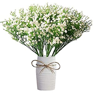 LYLYFAN 12 Pcs Babys Breath Artificial Flowers, Gypsophila Real Touch Flowers for Wedding Party Home Garden Decoration 8