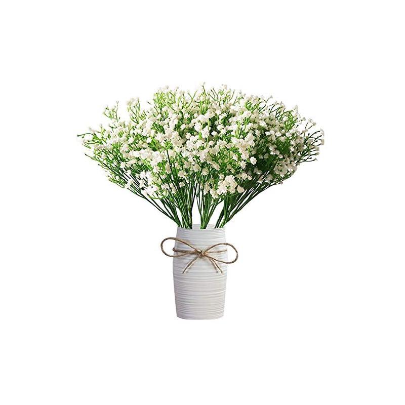 silk flower arrangements 12 pcs babys breath artificial flowers,lylyfan gypsophila real touch flowers for wedding party home garden decoration