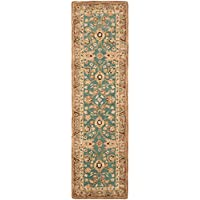 Safavieh Anatolia Collection AN558D Handmade Traditional Oriental Teal and Camel Wool Runner (23 x 8)