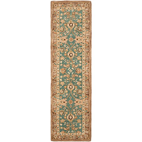 Safavieh Anatolia Collection AN558D Handmade Traditional Oriental Teal and Camel Wool Runner (2'3