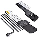4 Pcs L type Wrench Premium Spare Tire Tools Replacement Kits with Bag for Ford F150 Chevy GMC Silverado Sierra Tahoe Yukon [US STOCK]