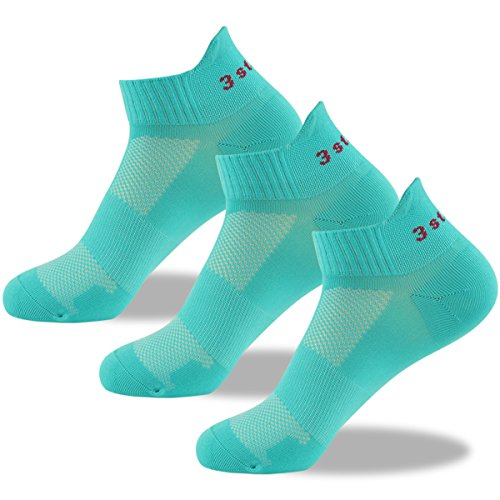 3street Running Socks, Unsiex Colorful Athletic Tab Low Cut Socks 1/3/6 Pairs