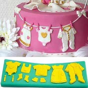 Super1798 - Molde de silicona para fondant para decoración de tartas de bebé, diseño 3D