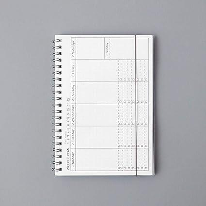 GOUDEDE Cuaderno espiral Diario Semanal Mensual 2020 ...