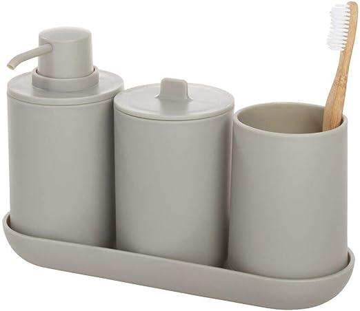 iDesign Set, juego de 4 compuesto por dispensador de jabón, porta ...