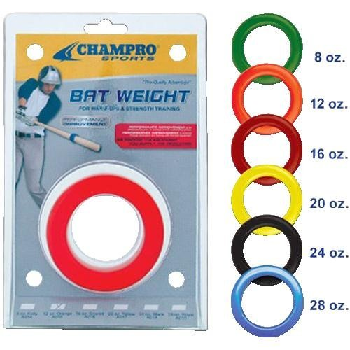 Champro Bat Weight Blister Pack (Yellow, 20-Ounce) by CHAMPRO