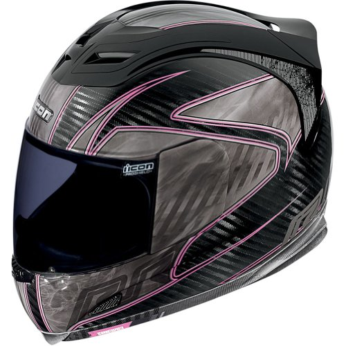 Icon Carbon RR Women's Airframe Street Motorcycle Helmet - Pink / X-Small