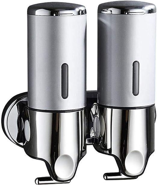 Dispensador de Jab/ón Manos para Cocina//Fregadero//encimera Ahorra Espacio Dosificador Jabon Cocina de Acero Inoxidable Botella de Pl/ástico