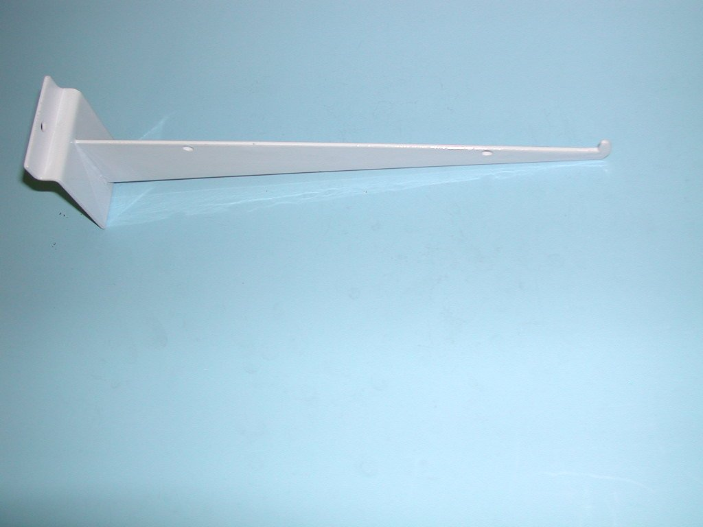 "10"" SHELF BRACKET WITH LIP FOR SLATWALL-WHITE-Lot of 25"