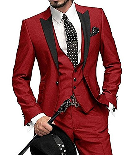 Red 3 Piece Suit - 9