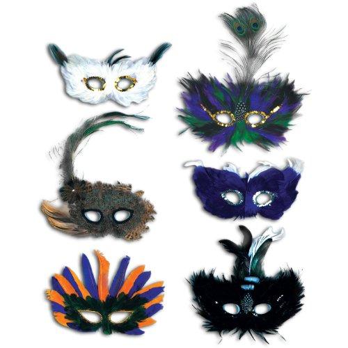 Beistle Decoration Majestic Fanci Feather Masks