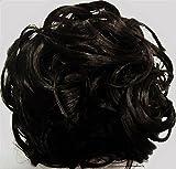 KATIE 7 inch Pony Fastener Hair Scrunchie by Mona Lisa - 2 Darkest Brown