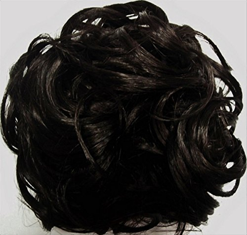 KATIE 7 inch Pony Fastener Hair Scrunchie by Mona Lisa - 2 Darkest Brown