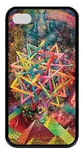 Abstract Psychedelic Art Custom iPhone 4S Case Cover ?¡ìC PC hard ?¡ìCBlack