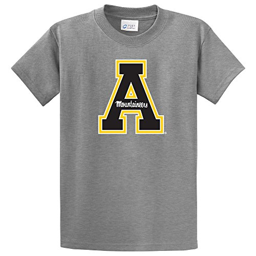 Campus Merchandise NCAA Appalachian State Mountaineers Short Sleeve Tee, Small, Athletic Heather