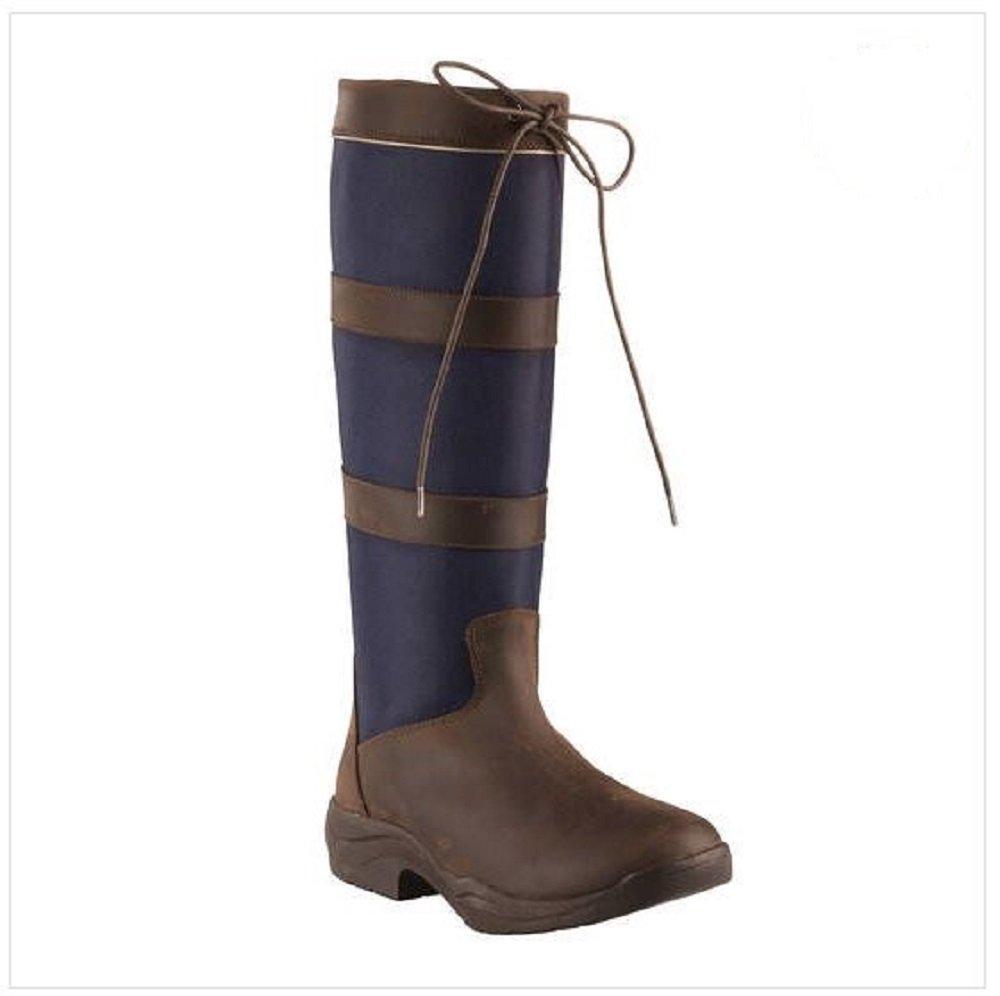 Horze防水国海軍ファブリックレザートリムTall防水ブーツ( US 10 / EU 42 )   B078HK74DP