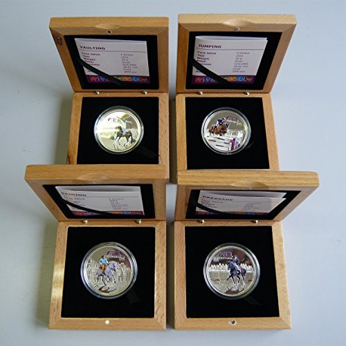 Coin Set - Jumping, Dressage, Reining and Vaulting w/ Boxes - Andorra Mint State (Dressage Box)