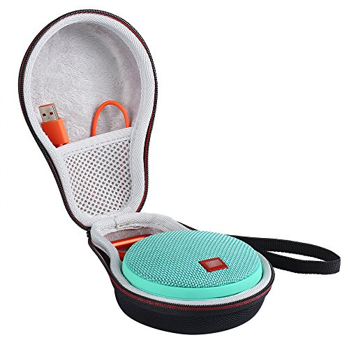 LuckyNV Carry Travel Funda Protectora para JBL Clip 2 Cables Altavoz Bluetooth Espacio Adicional para enchufes y Cables