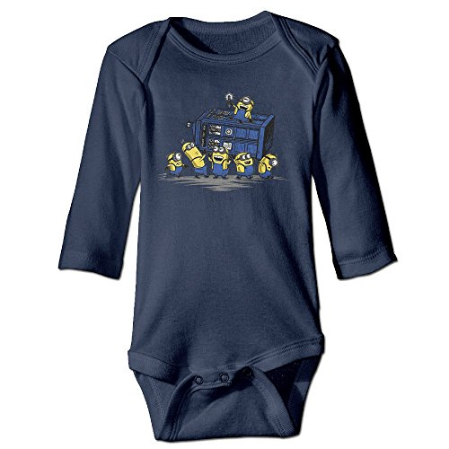 Missone Boy's & Girl's Cute Yellow Man Long Sleeve Romper Bodysuit Outfits (Ho Outfits)