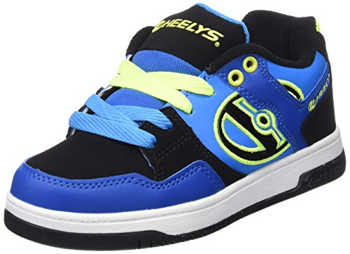Heelys Jungen Flow 770608 Lauflernschuhe Sneakers, Multicoloured (Royal/Black/Lime), 32 EU