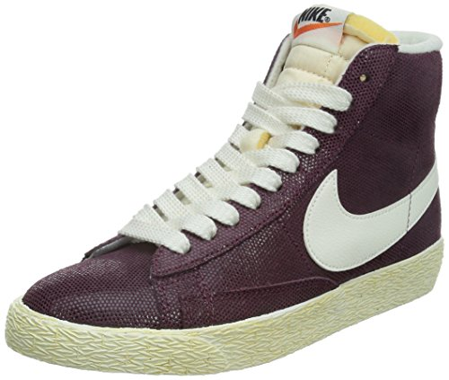 nike womens blazer MID SUEDE VNTG hi top trainers 518171 sneakers shoes (uk 4.5 us 7 eu 38, villain red sail pink power 611)