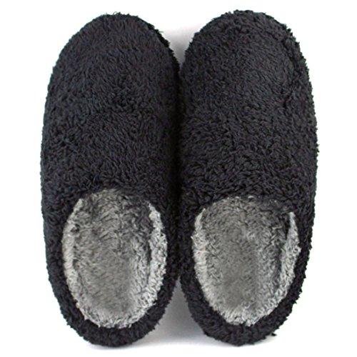 Azbro Hombre Verano Zapatillas Cómoda Casual en Casa Negro 1
