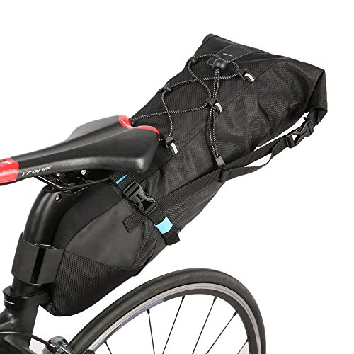 ROSWHEEL Large Capacity Bicycle Saddle Tail Rear Seat Waterproof Storage Bag by CLKJYF
