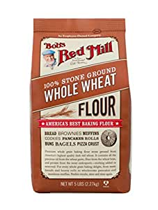 Bob's Red Mill Whole Wheat Flour, 5 Pound (Pack of 4)