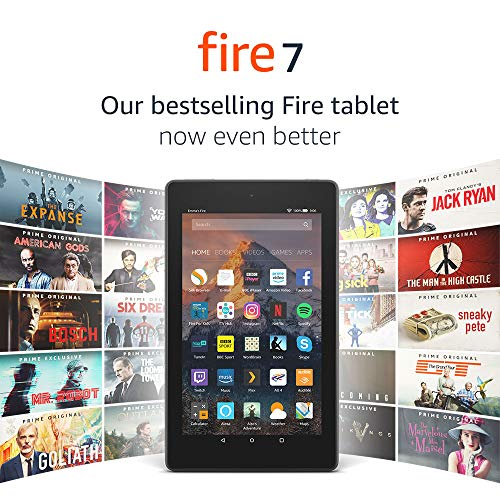 Fire 7 Tablet with Alexa, 7″ Display, 8 GB, Black — with Special Offers