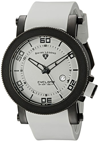 Swiss Legend Men's 30464-BB-014L Cyclone Light Grey Dial Silicone Watch
