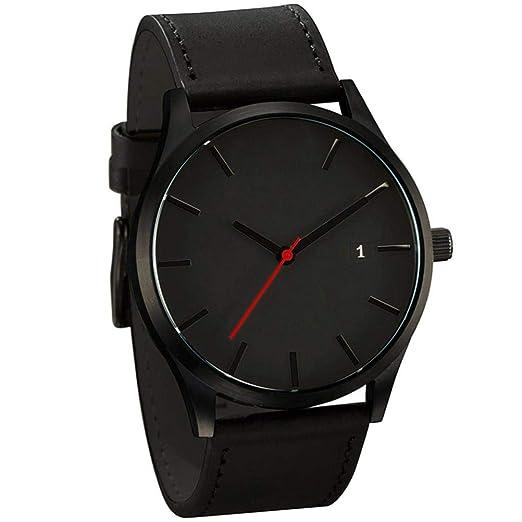 ca48e92764ec Cebbay Liquidación Importado Reloj de Pulsera Blanco Negro de Cuarzo  Minimalista Popular de Cuero de connotación Minimalista (A)  Amazon.es   Relojes