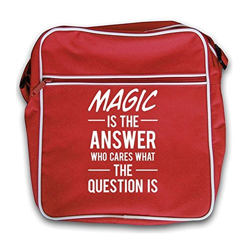 Red Bag The Retro Magic Is The Answer Is Magic Red Answer Flight xUxvwXzq