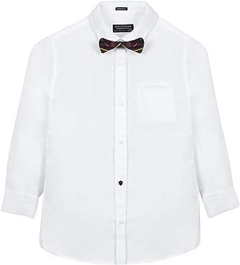Mayoral Camisa pajarita 055 Blanco 172 cm(18 años): Amazon.es ...