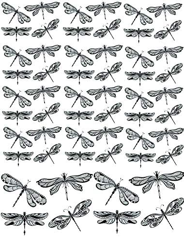 Black Dragonflies Enamel or Glass Fusing Decals 3 Different Size Sheet Enamel Decal Waterslide Decal Ceramic Decal Choose Either Ceramic 30102 Glass Decal to Choose from Images