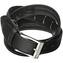 Travelon One Size Fits All Leather Money Belt, Black, One Size