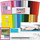 Silhouette Cameo 3 Machine Bundle Vinyl Starter Bundle- 25 sheets vinyl with transfer paper, Tools, Vinyl designs, PixScan Mat