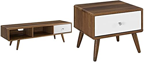 Modway Transmit Mid-Century Modern Low Profile 55 Inch TV Stand