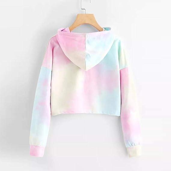 Amazon.com: Chrikathy Women Hoodie Printed Long Sleeve Pullover Patchwork Casual Sweatshirt: Clothing