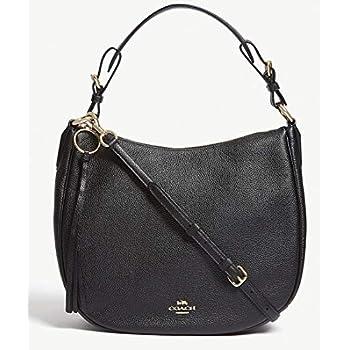 b21ca20b63 Amazon.com  COACH Women s Natural Calf Nomad Hobo LI Navy Handbag  Shoes