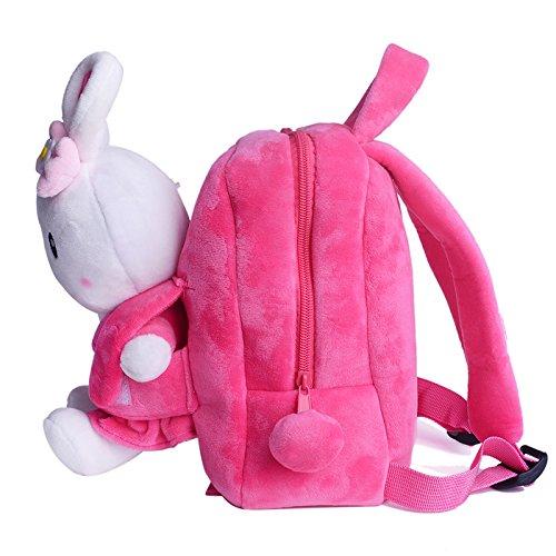 Gloveleya Bunny Rabbit Plush Kid's Backpack Shoulder Bags Easter Gifts 8'' for Kids Under 5 Years Old by Gloveleya (Image #1)