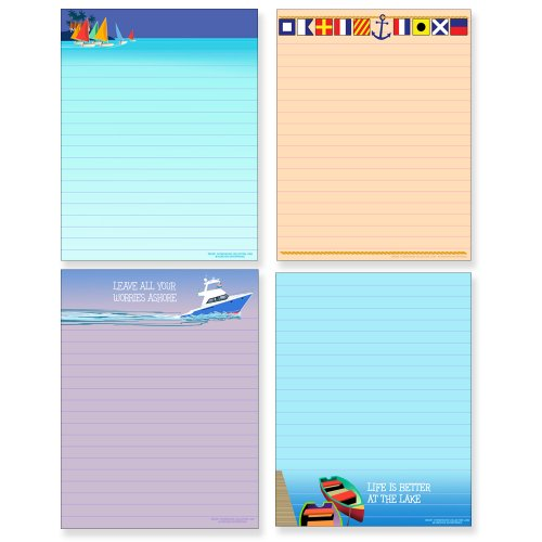 Nautical Theme Note Pads made our list of Gifts For Active Women, Gifts For Women Who Hike, Gifts For Women Who Fish, Gifts For Women Who Camp