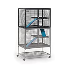 MidWest Deluxe Critter Nation Add-On Unit Small Animal Cage (Model 163) Includes 1 leak-Proof Pan, 1 Shelf, 1 Ramp w/ Ramp Cover. Compatible w/ Critter Nation Models 161 & 162